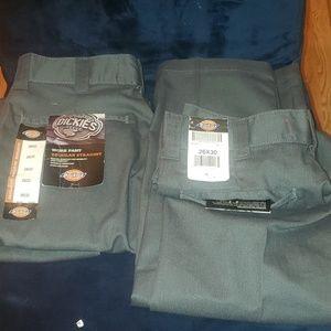 2 New Dickies pants 26x30/ 26x32 work or play